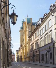 Obraz na PlexiWarsaw, Old Town, Piwna street, St. Marcin church