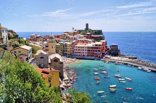 Staande foto Liguria View over the Cinque Terre village of Vernazza, Italy