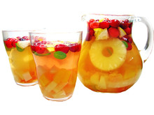 Punch Cocktail Drink With Fruit