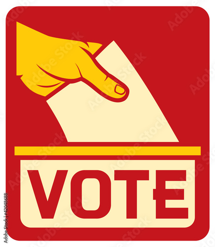 Valokuva  vote label