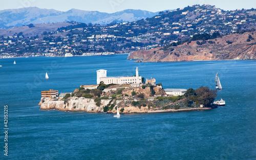 Keuken foto achterwand San Francisco Alcatraz Island Sail Boats San Francisco California