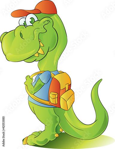 Keuken foto achterwand Dinosaurs teen student dinosaur