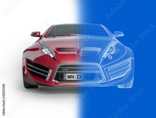 Plakaty samochody nowoczesne   projekt-samochodu-sportowego