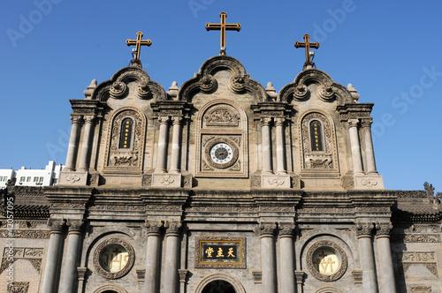 Foto op Plexiglas Xian Historic cathedral in Xian China