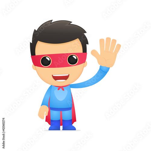 Poster Superheroes funny cartoon superhero