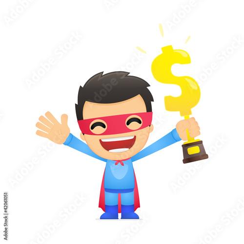 Autocollant pour porte Super heros funny cartoon superhero