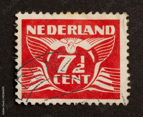 Fotografia  HOLLAND - CIRCA 1940: Stamp printed in the Netherlands