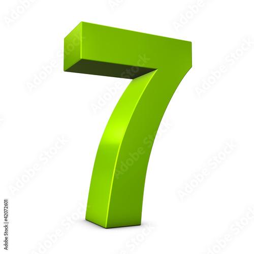 Fotografia  Number 7 3d render illustration