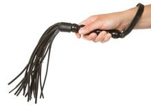 Strict Black Leather Flogging ...