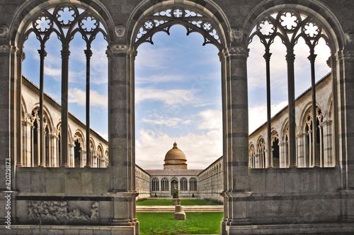 Pisa, piazza dei miracoli - Cimitero Monumentale Fototapeta