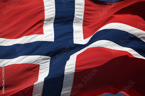 The Norwegian flag - 17th of May Fototapeta