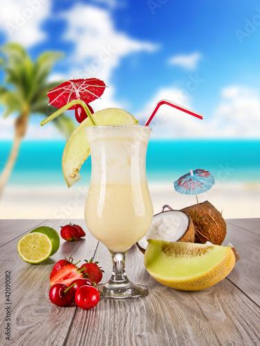Fototapeta Pina colada drink obraz na płótnie
