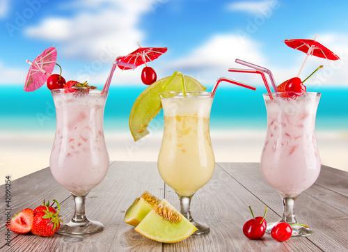 Fototapeta Pina colada drinks obraz na płótnie