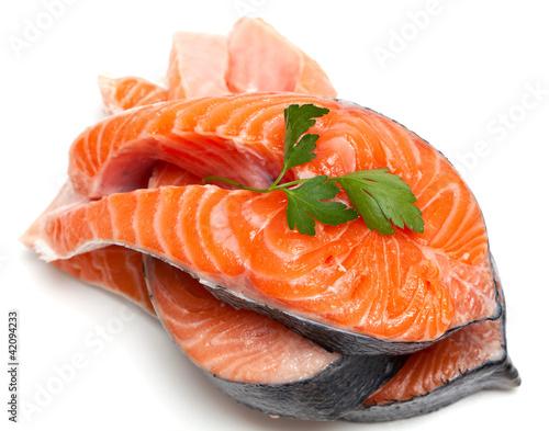 Fotografie, Obraz  raw salmon