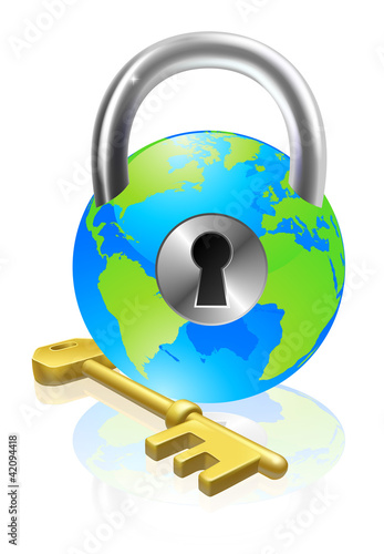 Plakaty ziemia lock-and-key-globe