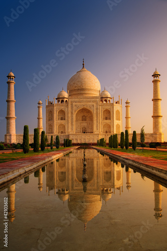 Foto op Aluminium India Taj Mahal Agra Indie