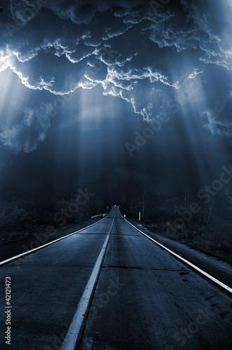 Autoroute nuit Dark series - light in night