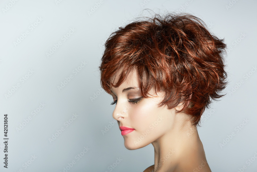 Fototapety, obrazy: woman with short haircut