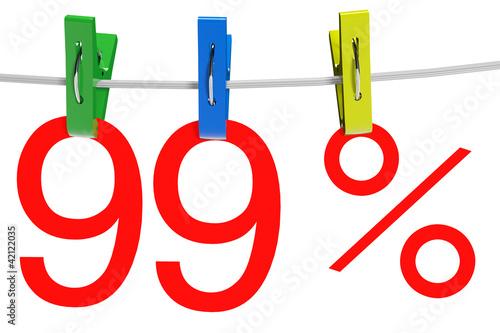 99 percent sale symbol Poster