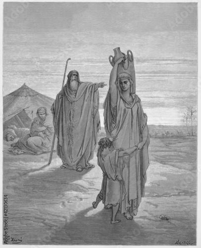Abraham sends Hagar and Ishmael away Fotomurales