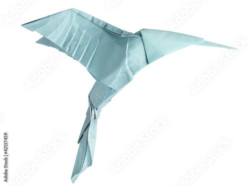 origami isolated hummingbird Wallpaper Mural