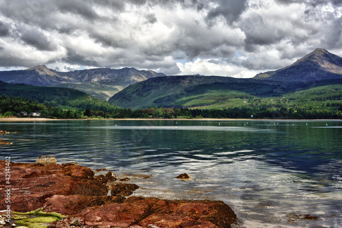 Typical scenery of the Isle of Arran in Scotland Canvas Print