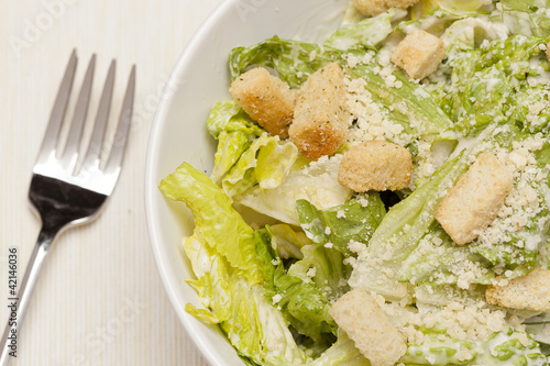 Fotografie, Obraz  Fresh green Caeser Salad