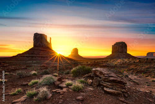 Poster Marron chocolat Monument Valley