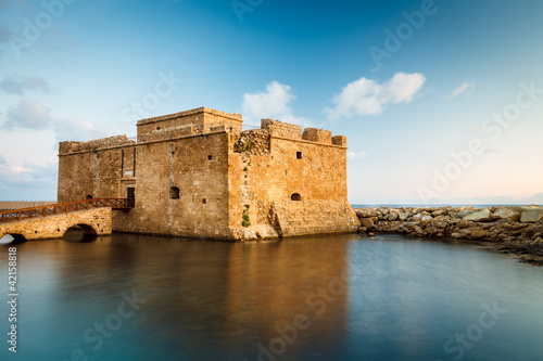 Photo Stands Cyprus Late afternoon view of the Paphos Castle (Paphos, Cyprus)