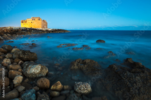 Foto op Canvas Cyprus Night view of the Paphos Castle (Paphos, Cyprus)