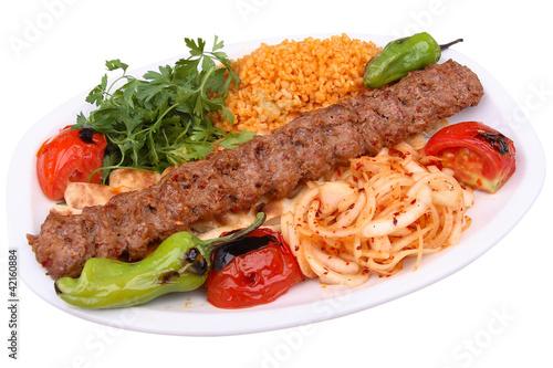 Canvas Print Adana Kebap turkish kebab