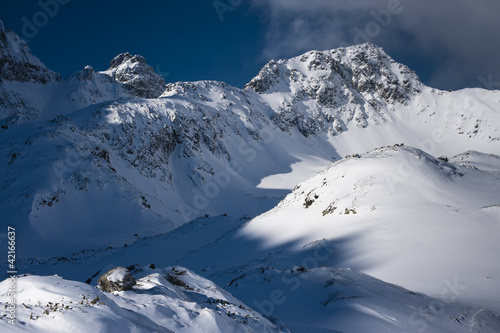Fotobehang Bergen Mountain ridge