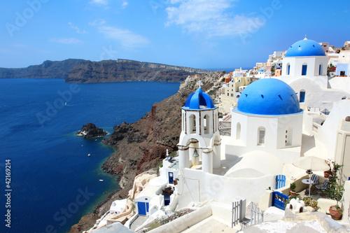 Fototapety, obrazy: Grèce - Santorin (Eglise à Oia)
