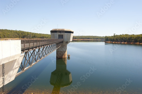 Photo sur Aluminium Barrage Water storage dam Australia