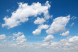 Cloudscape, blue sky and white clouds