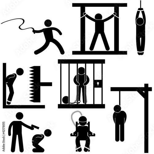 Punishment Torture Justice Death Sentence Execution Tablou Canvas
