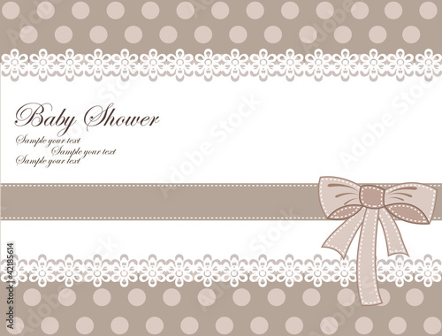 Cadres-photo bureau Hibou Baby shower card