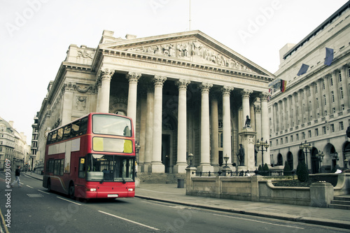 Aluminium Prints London red bus red london bus city architecture