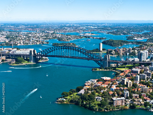 Stickers pour porte Australie Sydney Harbour Bridge