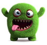 Fototapeta Fototapety na ścianę do pokoju dziecięcego - cute furry monster
