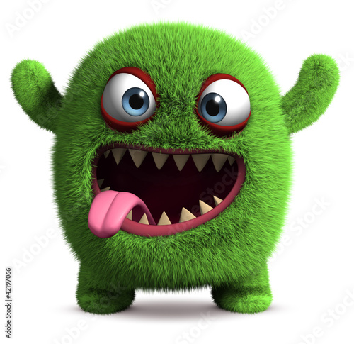 Tuinposter Sweet Monsters cute furry monster