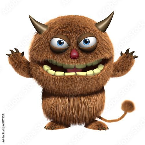 Keuken foto achterwand Sweet Monsters devil