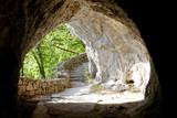 Fototapeta Przestrzenne - Tunnel in Plitvice lakes - Croatia.