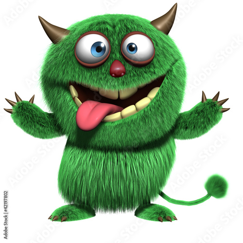 Tuinposter Sweet Monsters cute furry alien