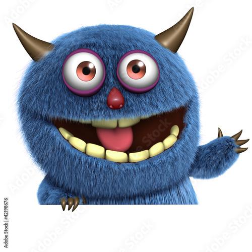 Fotobehang Sweet Monsters cute furry alien