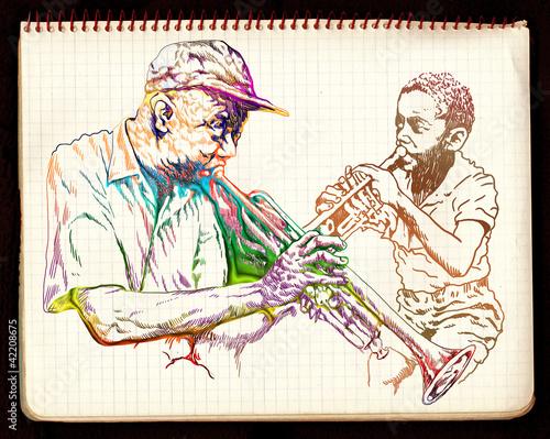 jazzowi-mezczyzni-rysunek-odreczny-wariacja-kolorow