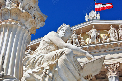 Photo  Austrian parliament, Vienna