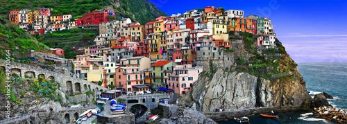 Fotobehang Purper bella Italia series - Monarolla, Cinque terre