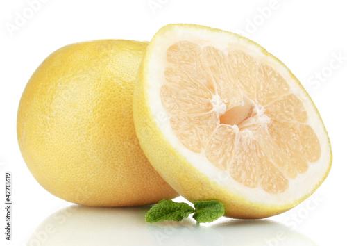 Fotografia  Pomelo or Chinese grapefruit isolated on white