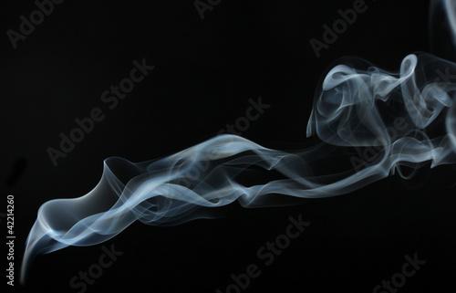 Fotobehang Rook Abstract smoke on black background